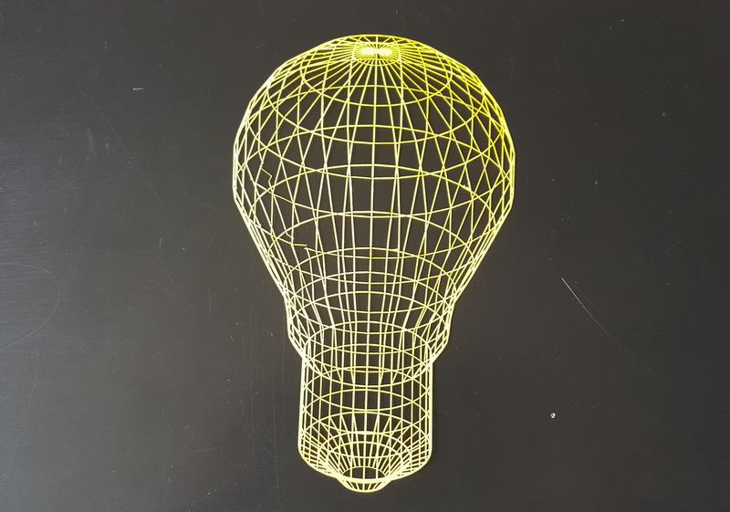 Wireframe Lightbulb